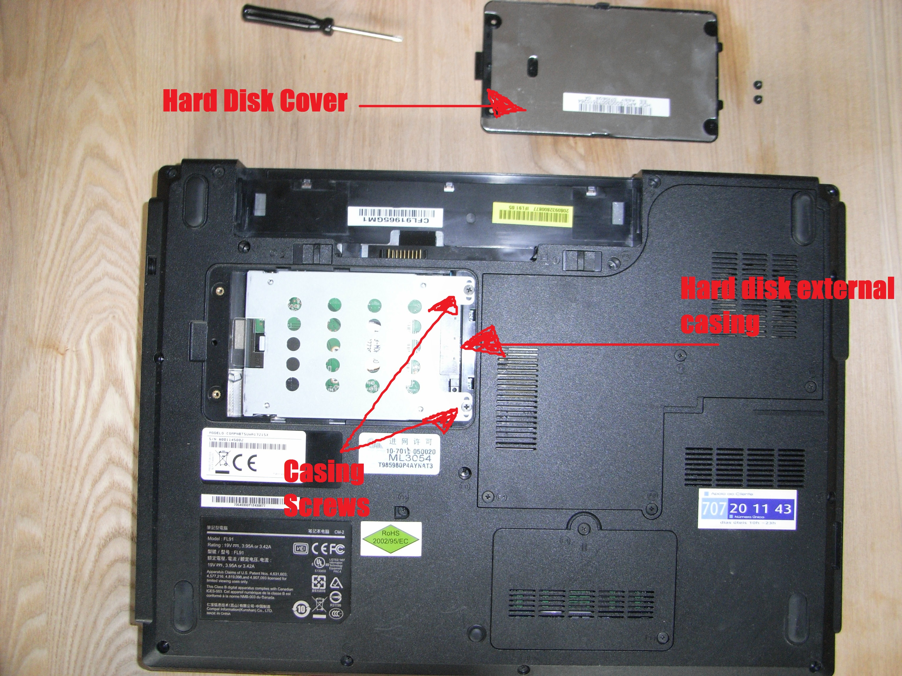 how to replace a hard drive steps